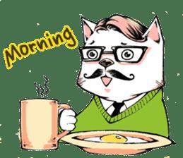 Hipster Cat & Ordinary Dog sticker #6901032