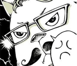 Hipster Cat & Ordinary Dog sticker #6901037