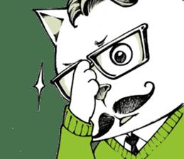 Hipster Cat & Ordinary Dog sticker #6901045