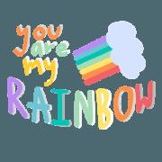 สติ๊กเกอร์ไลน์ My Rainbow is u