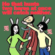 cheerful Japanese proverbs. sticker #6902022