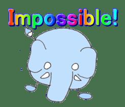 Elephant Haya (English version) sticker #6902281