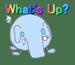 Elephant Haya (English version) sticker #6902285