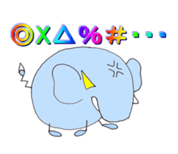 Elephant Haya (English version) sticker #6902287