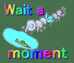 Elephant Haya (English version) sticker #6902302