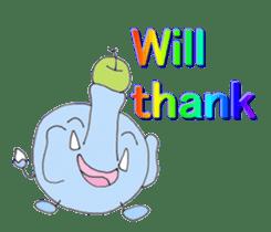 Elephant Haya (English version) sticker #6902305