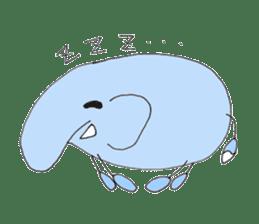 Elephant Haya (English version) sticker #6902306