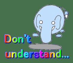 Elephant Haya (English version) sticker #6902310