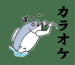 Fish hands grew sticker #6902392