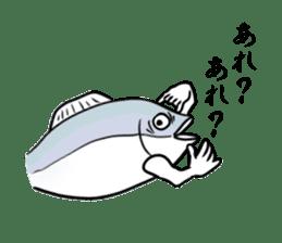 Fish hands grew sticker #6902393