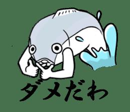 Fish hands grew sticker #6902394