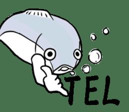 Fish hands grew sticker #6902395