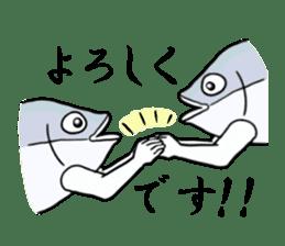 Fish hands grew sticker #6902406