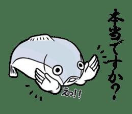 Fish hands grew sticker #6902429
