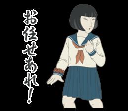 """UKIYOE"" Girls high school sticker #6907955"