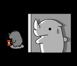 Troublesome Rhinoceros sticker #6908185