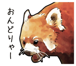 Watercolor red panda sticker sticker #6913722