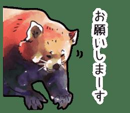 Watercolor red panda sticker sticker #6913728