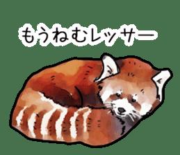 Watercolor red panda sticker sticker #6913747