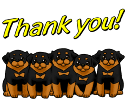 The Rottweilers. sticker #6919668
