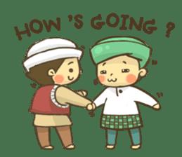 Muslim couple sticker #6923662