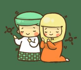 Muslim couple sticker #6923663