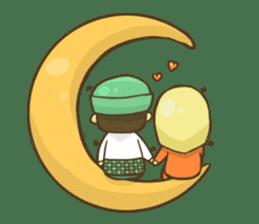 Muslim couple sticker #6923664