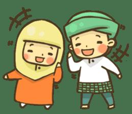Muslim couple sticker #6923668