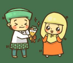 Muslim couple sticker #6923669