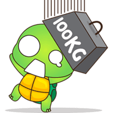 Pura, the funny turtle, version 6 sticker #6925832