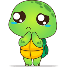 Pura, the funny turtle, version 6 sticker #6925833