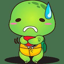 Pura, the funny turtle, version 6 sticker #6925837