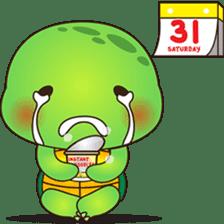 Pura, the funny turtle, version 6 sticker #6925843