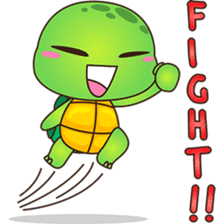 Pura, the funny turtle, version 6 sticker #6925845