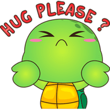 Pura, the funny turtle, version 6 sticker #6925848