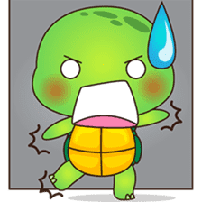 Pura, the funny turtle, version 6 sticker #6925854
