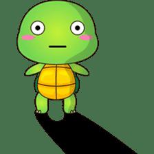Pura, the funny turtle, version 6 sticker #6925857