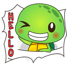 Pura, the funny turtle, version 6 sticker #6925859