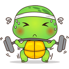 Pura, the funny turtle, version 6 sticker #6925861