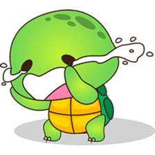 Pura, the funny turtle, version 6 sticker #6925866