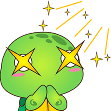 Pura, the funny turtle, version 6 sticker #6925870