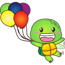 Pura, the funny turtle, version 6 sticker #6925871