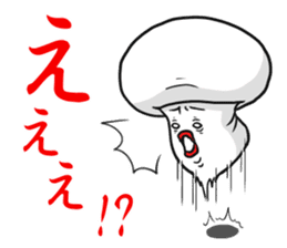 One day I met a mushroom in a forest. sticker #6927440