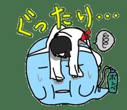 Japanese selfish ghost girl sticker #6929186