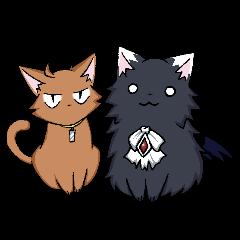 Tsundere cat and devil cat