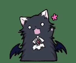 Tsundere cat and devil cat sticker #6934249