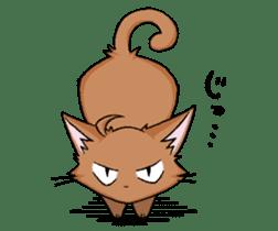 Tsundere cat and devil cat sticker #6934250