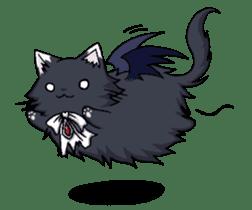 Tsundere cat and devil cat sticker #6934251