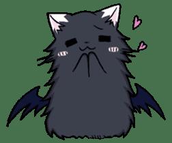 Tsundere cat and devil cat sticker #6934253