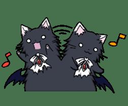 Tsundere cat and devil cat sticker #6934257